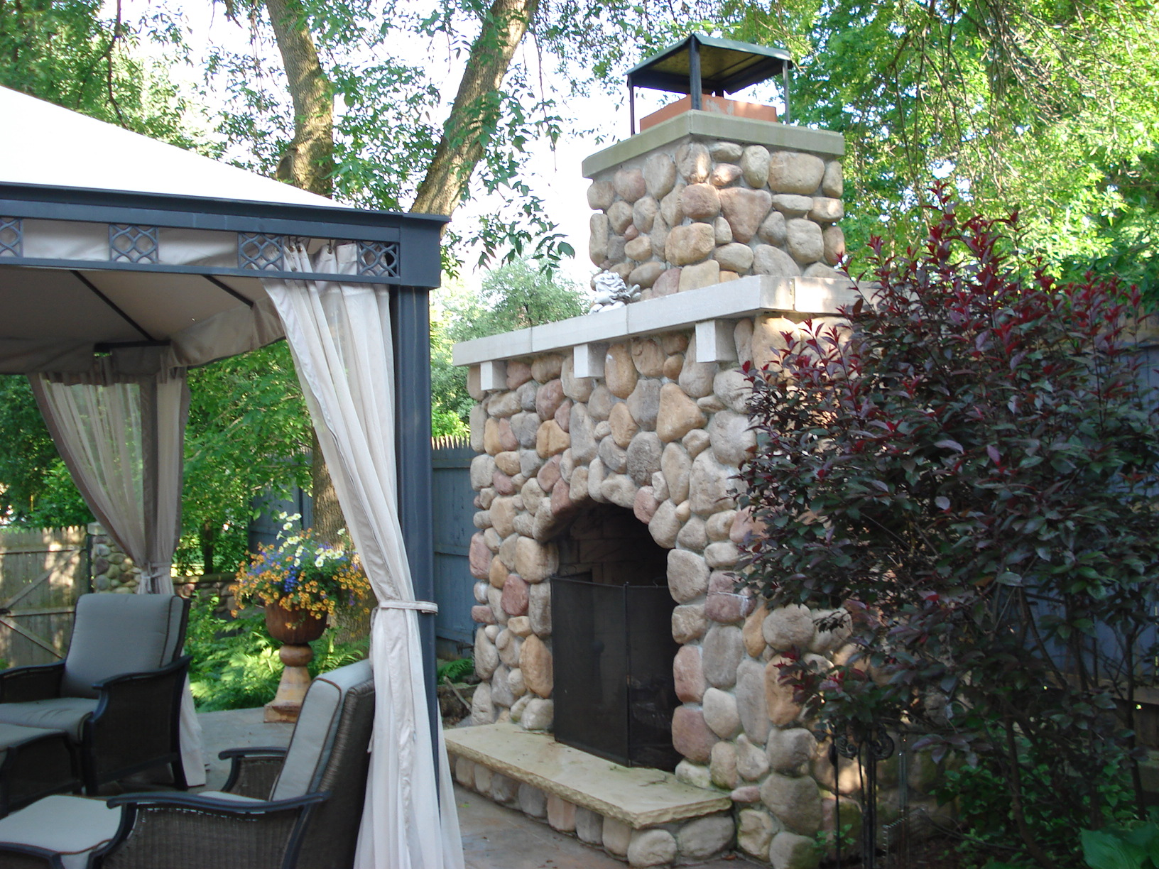 Outdoor Fireplace Hamburg Ny Wierzba Masonry
